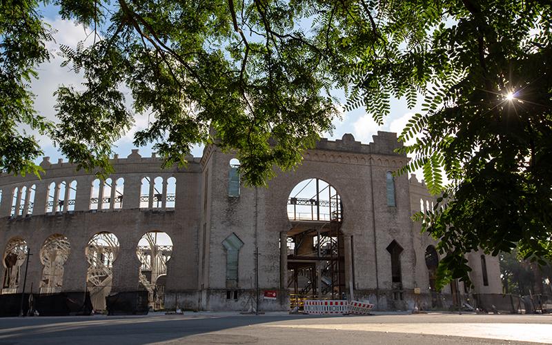Obras de restauración en la Plaza de Toros de Colonia