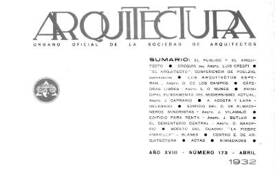 Arquitectura 173 | 1932