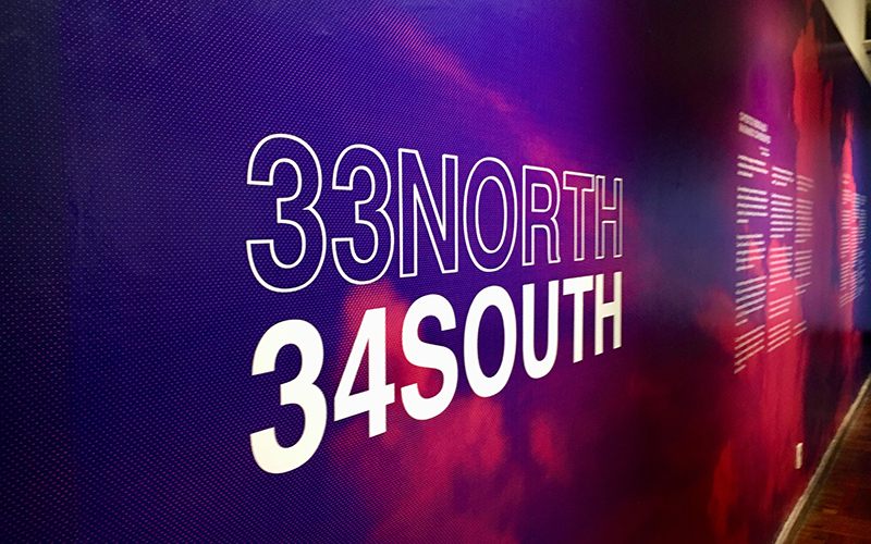 33North, 34South | Inauguración