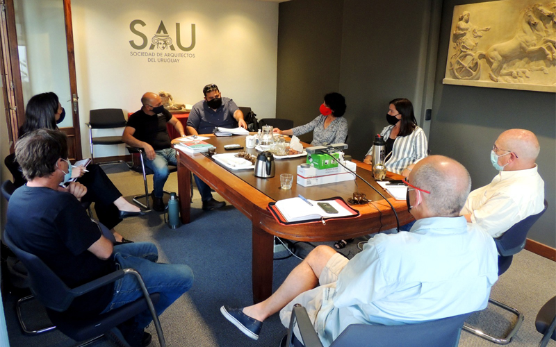 Representantes del PIT CNT se reunieron con SAU