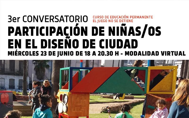 Conversatorio: Participación de niñas/as en el diseño de ciudad