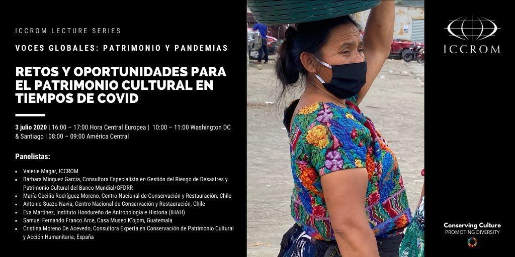 Seminario Retos y oportunidades para el patrimonio cultural en tiempos de Covid